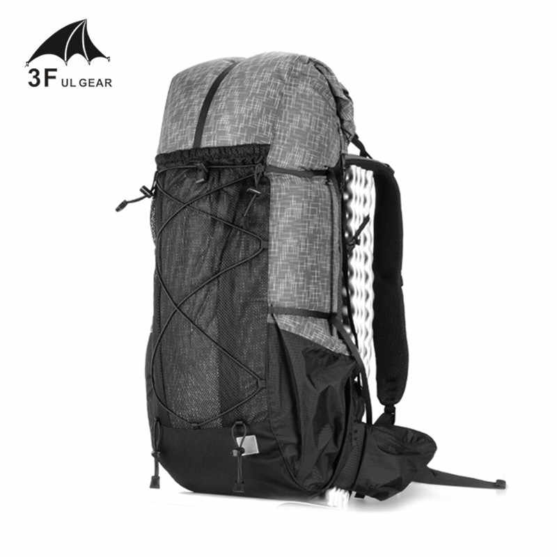 3F UL Gear Tahan Air Hiking Ransel Ringan Camping Pack Perjalanan Pendakian Gunung Backpacking Trekking Ransel 40 + 16L