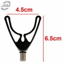 JSM 4pcs Black Plastic U-head Fishing Rod Holder Telescopic Fishing Rod Butt Rest Head Carp Fishing Accessories