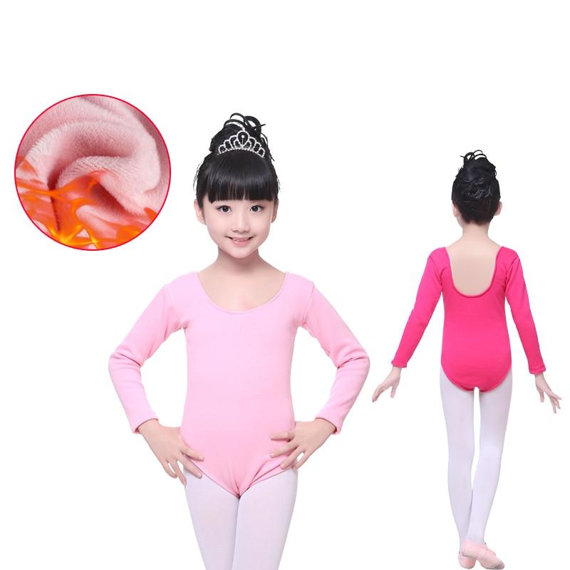 68eb95337dfe Children Dance Clothing Autumn Winter Long-Sleeved Velvet Warm ...