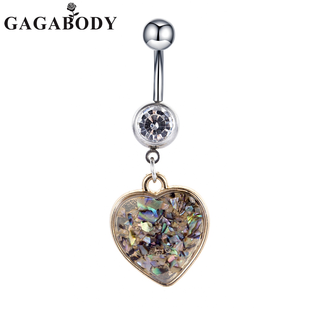 GAGABODY 1.6mm Belly Button Rings 14G Stianless Steel ...