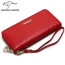 Kangaroo Kingdom Fashion Women Wallets Long Split Leather Ladies Clutch Purse Brand