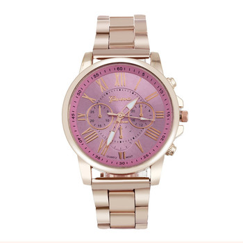 erkek kol saati Colorful Womens Mens Stylish watch Roman numerals Stainless Steel Big Dial Watch Quartz Sports Watch