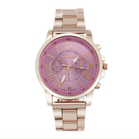 2016 colorful womens mens stylish fashion watch roman numberals stainless steel band big dial watch quartz.jpg 200x200