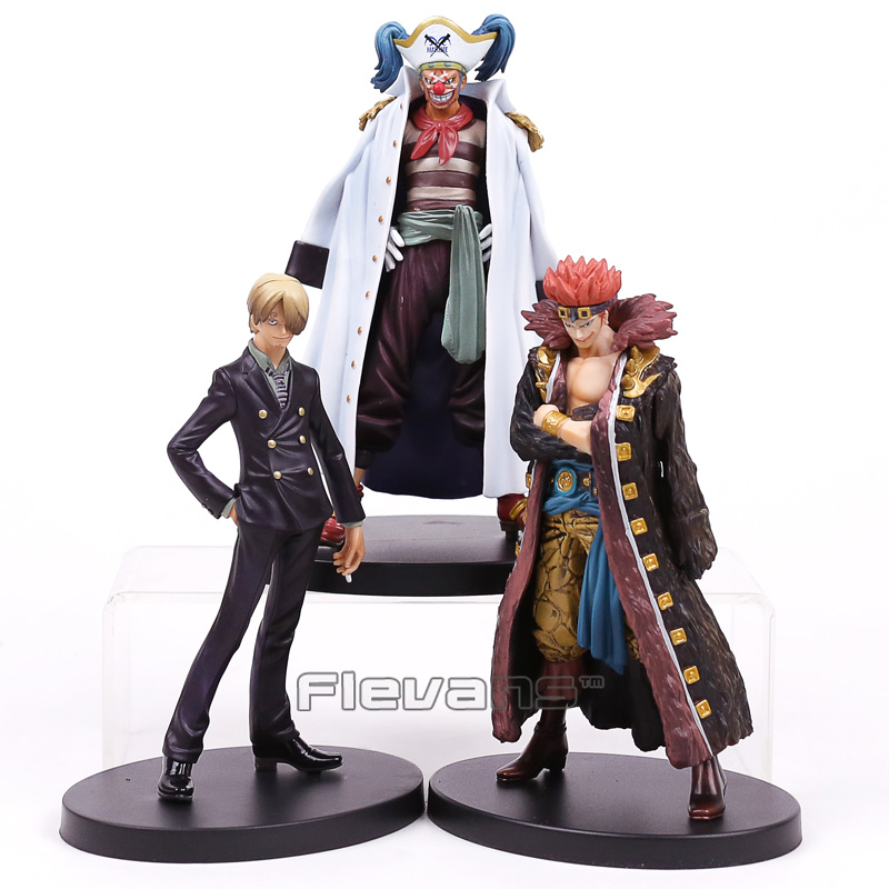 Anime One Piece DX The Grandline Men vol.7 Sanji / Buggy /  Eustass Kid PVC Figure Collectible Model Toy