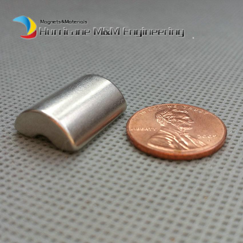 Фото 6 pcs NdFeB Arc Segment L19xW14.5xT5 mm N42 Diametrically Servo Moto magnet for generators wind turbine Neodymium Rotor Magnet