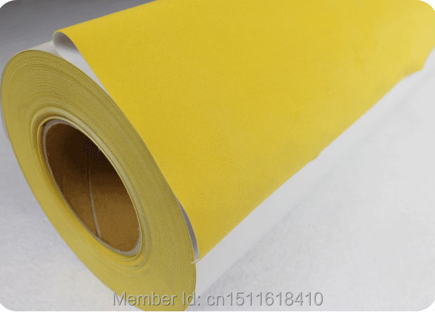 CDF-04 Yellow color High quality vinyl sticky flex flock heat transfer vinyl for textile