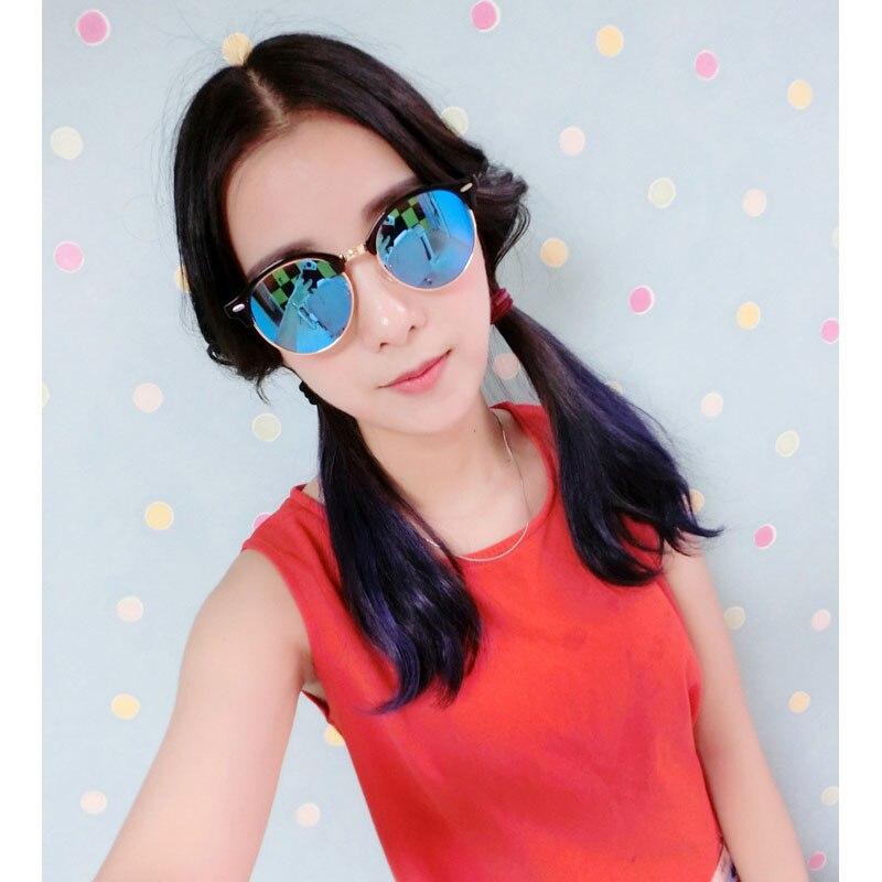 Classic retro rice nail color film sunglasses Fashion Trend reflective Baitao brand