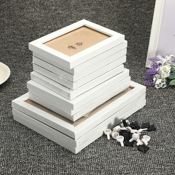 11Pcs/Set Wood Picture Frames Wall Photo Frame Family Picture Display Living Room Hallway Bedroom Wall Decoration