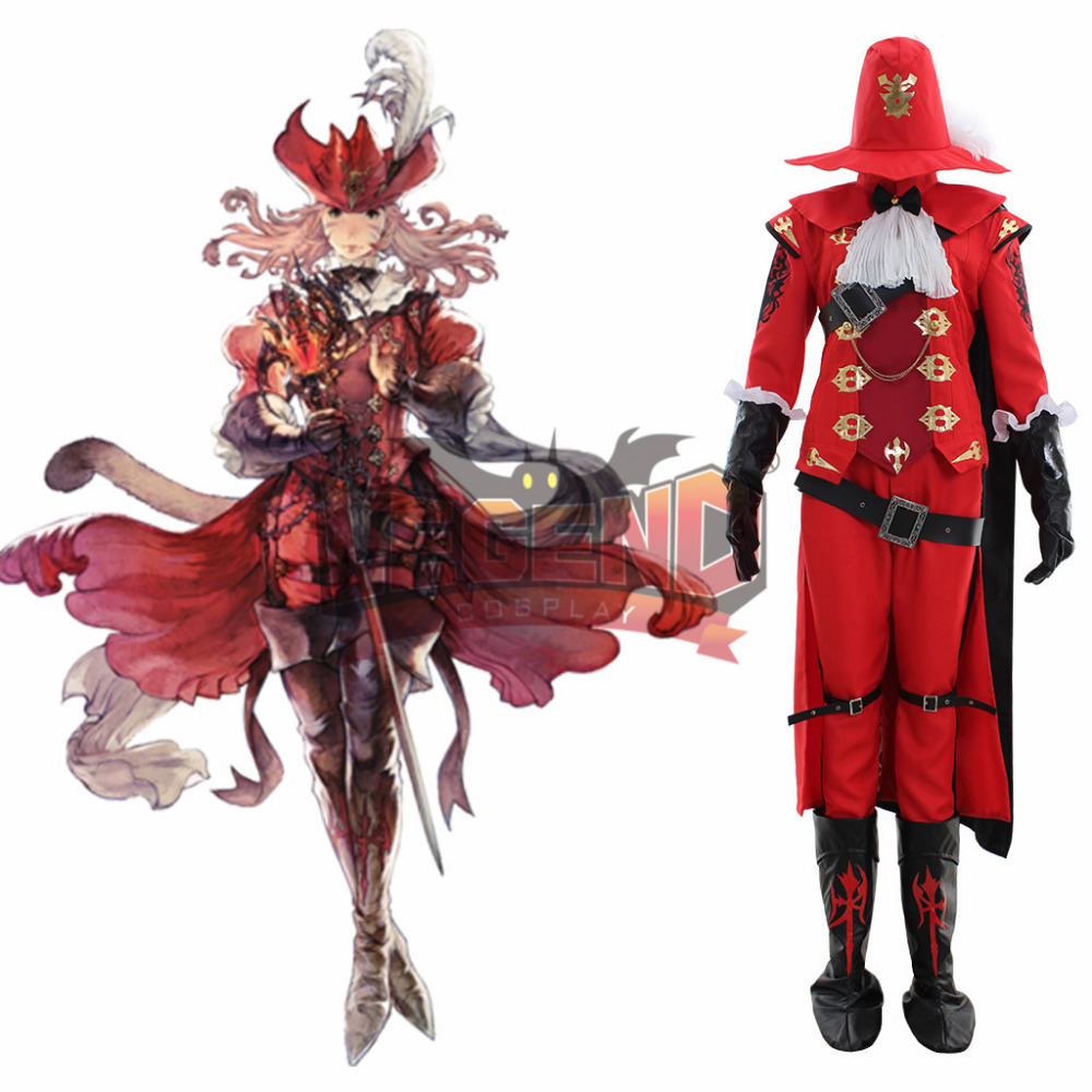 Final Fantasy Red Mage cosplay costume outfit full set adult costume all size custom made