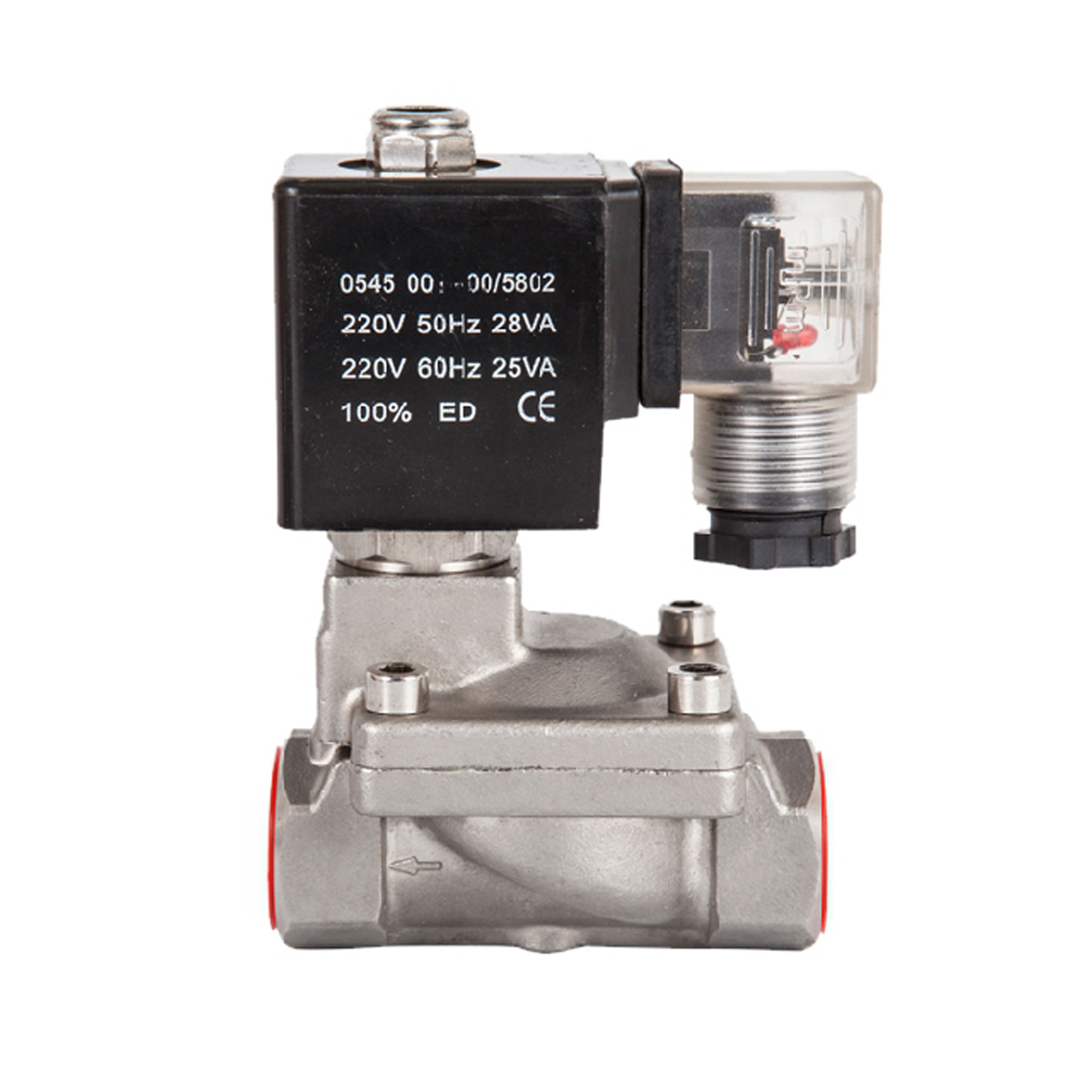 SLP series Stainless steel 16kg high pressure Pilot Diaphragm Solenoid Valve,N.C High temperature valves,110V 220V 380V 12V 24V