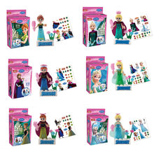 Building Blocks Super Heroes Avengers Cartoon Movie Girl Movie Snow 2 Anna Elsa With Stickers Toys Children Gift JG112+JG113(China)