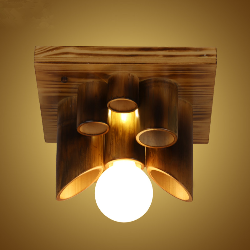 lamparas de techo American Country Corridor Balcony LED Ceiling Lights for Living Room Wooden Nordic Bamboo LED Ceiling Lightlamparas de techo American Country Corridor Balcony LED Ceiling Lights for Living Room Wooden Nordic Bamboo LED Ceiling Light