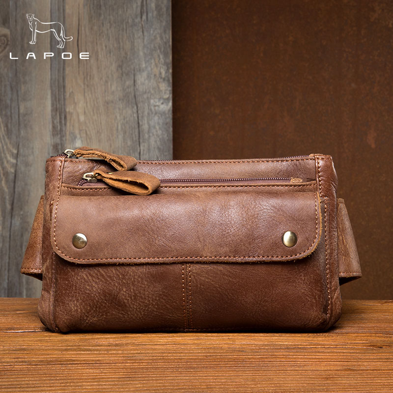 High Quality Cow Genuine Leather Men Waist Pack Casual Bum Hip Bag Belt Phone Bag Case Fanny Pack For Women Men Travel Waist Bag autoprofi органайзер в багажник travel ковролиновый 50х13х20см чёрный 1 24
