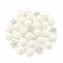 10PCS DIY Craft Supplies 35mm Snow Pattern Flatback Rhinestone Button Handmade Materials Accessories for jewelry hot sale 10pcs 20mm handmade leopard photo glass cabochons pattern domed jewelry accessories supplies h3 31