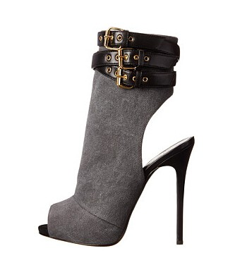 New fashion black suede triple-strap booties designer sexy peep toe thin heels ankle boots high heel boots