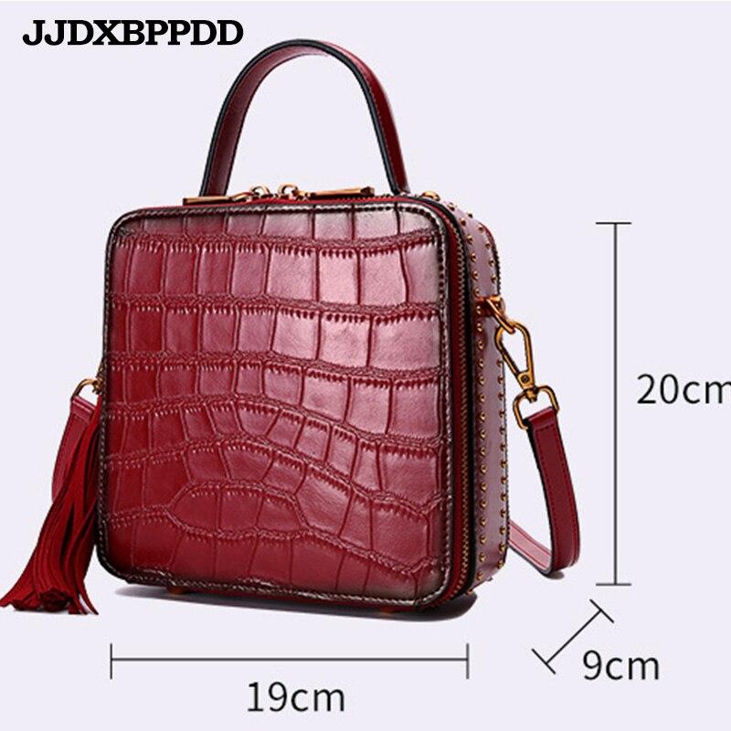 Nouveau luxe femmes en cuir véritable sac à bandoulière dames sacs à main qualité marque rabat sacs de messager femme petit fourre-tout sac à bandoulière - 6
