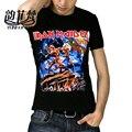 Camisetas Iron Maiden Marca 3D Estilo 2016 Heavy Metal Camiseta de Los Hombres Streetwear Algodón Ropa Casual de Manga Corta de Tes Superior