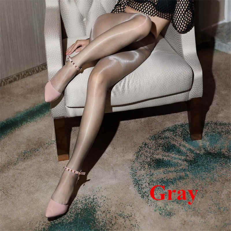 Women Control Thickness 70D Stockings Pantyhose Oil Shiny Footed Tights Clubwear