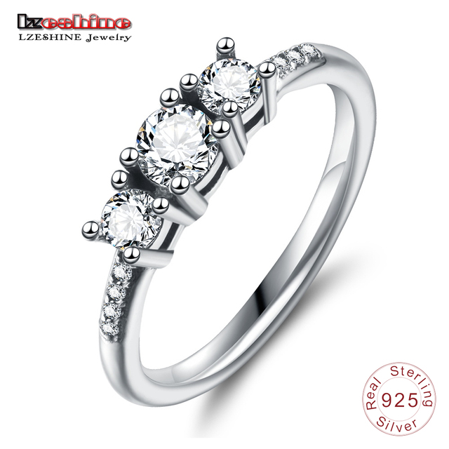 Lzeshine Elegant 100 925 Sterling Silver Heart Of Gold Puzzle Rings