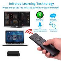 Mando a distancia Q8 con Bluetooth, Control remoto por voz, inalámbrico, decodificador de TV, ratón remoto