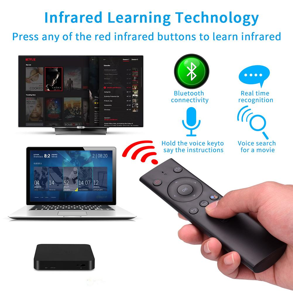 Q8 Bluetooth Voice Remote Control Wireless AI Voice Flying Squirrel Mouse TV Box Set -Top Box Remote Control Air Mouse Remote TV