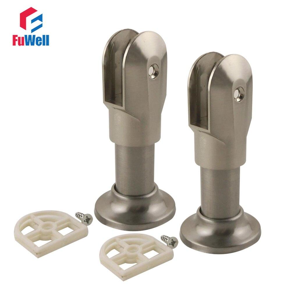 2pcs Support Bracket Leg Zinc Alloy Public Toilet Accessories for WC Partition Fit 12-18mm Thickness Door цена 2017