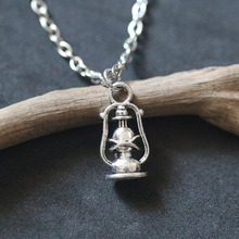 Lamp Pendant Charms for Jewelry Making DIY Handmade Bracelets Necklace Vintage Tibetan Silver Jewelry Accessories