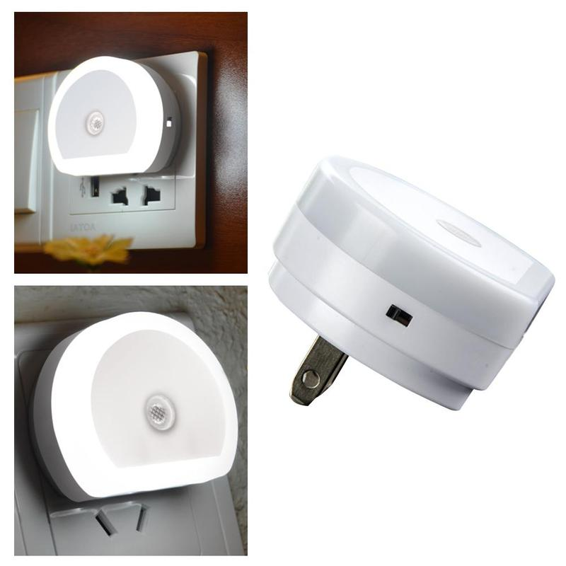 Mini LED Night Light With Dual USB Wall Charger Plug Dusk To Dawn Sensor Wall Lamp US/UK/EU Plug Night Lights