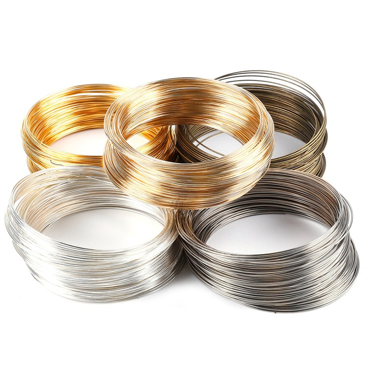 JEWELLERY MAKING ROUND 18ct YELLOW GOLD WIRE 0.8mm Diameter in multiples of 10mm