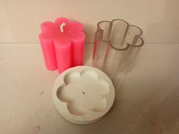 DIY plum kwiat 6 3*6 9 cm świeca podejmowania modelu świecy odporna na wysoką temperaturę świeca formy dla majsterkowiczów tanie i dobre opinie Leane Creatief Polyresin