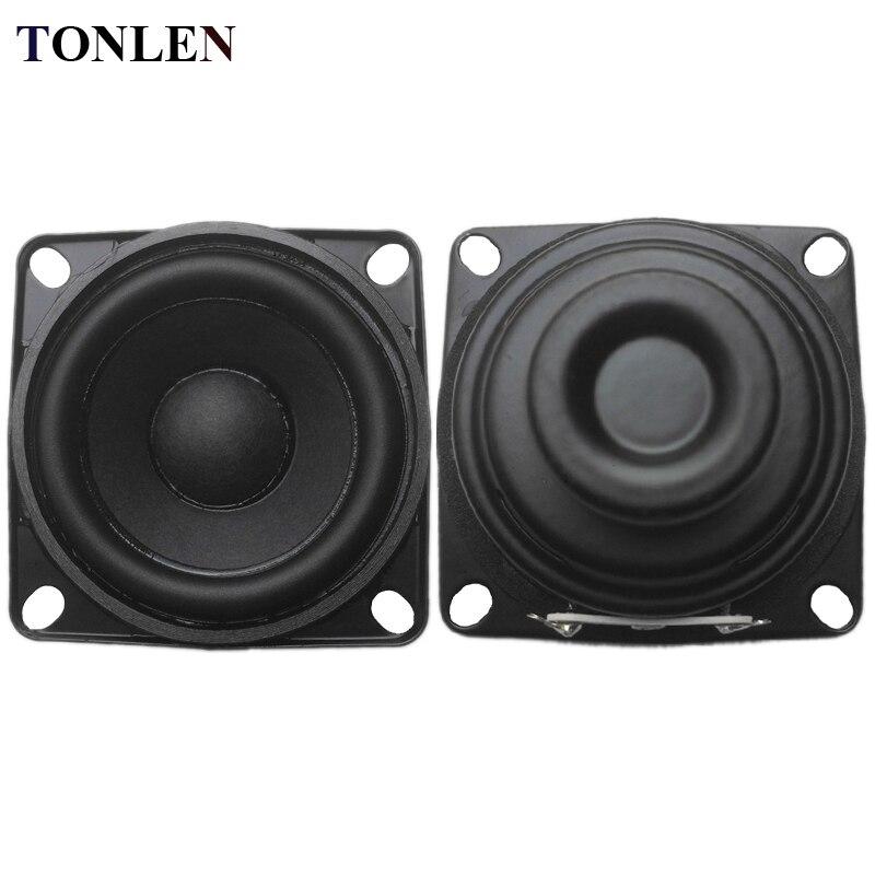 TONLEN 2PCS 2 inch Full Range Speaker 8 s