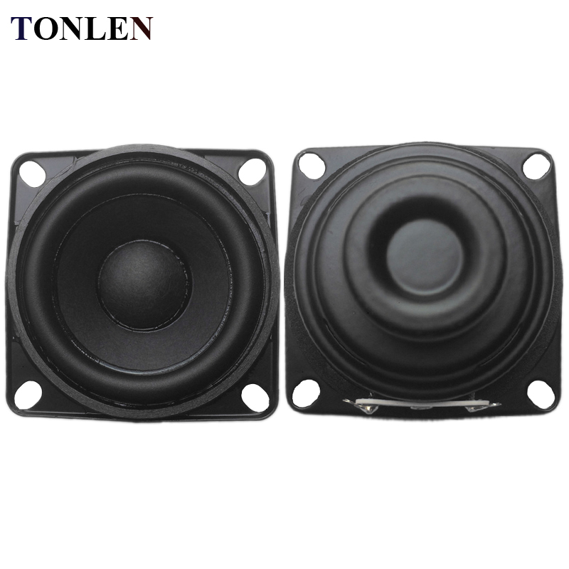 TONLEN 2PCS 8 ohm Speaker Full Range Speaker 10W 2 inch Loudspeaker DIY HIFI Portable Speakers Mini Audio Blutooth Speaker