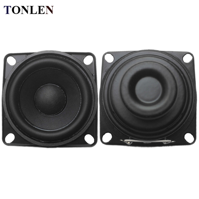 TONLEN 2PCS 8 Ohm Speaker Full Range 10W 2 Inch Loudspeaker DIY HIFI Portable Speakers