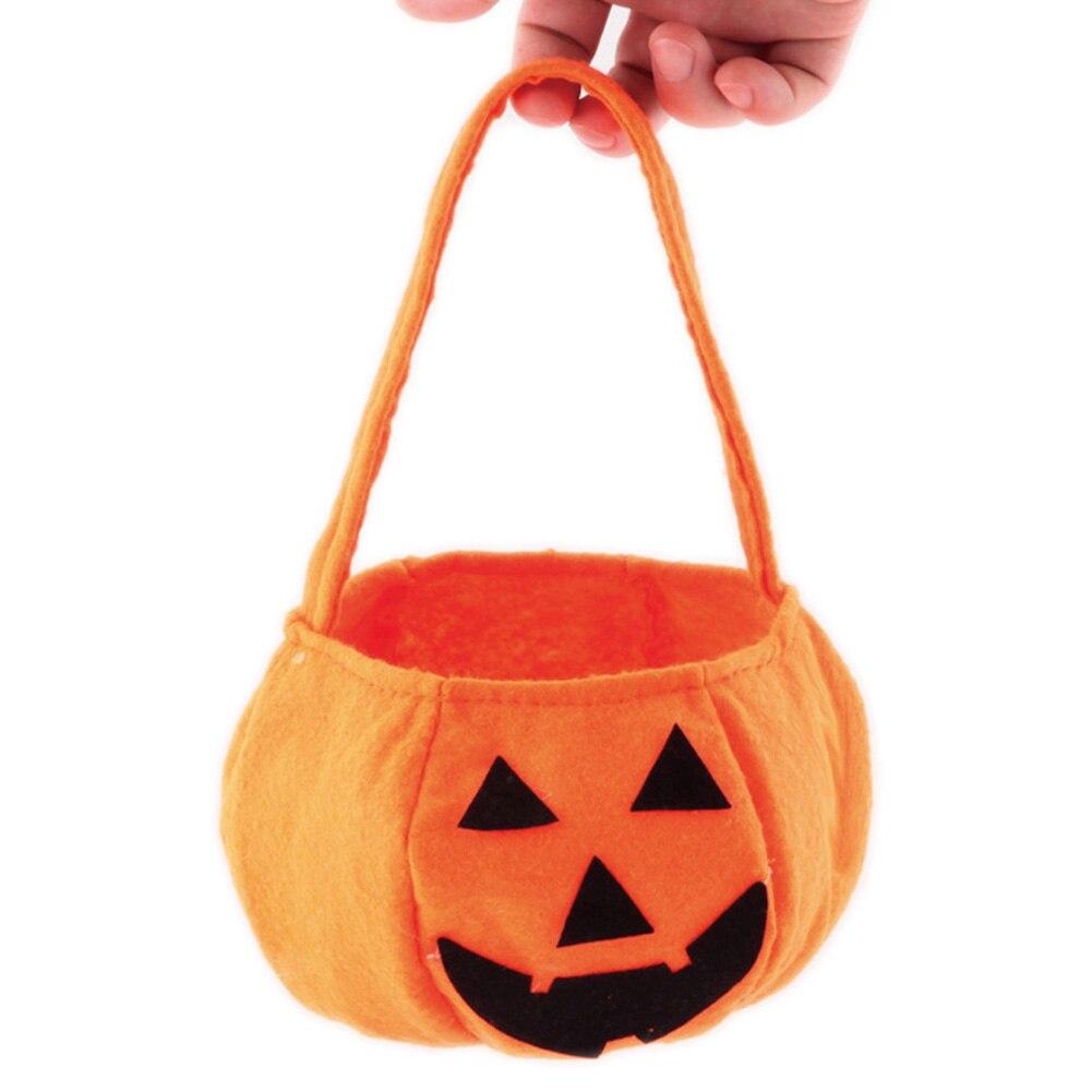 1 PC New Children Baby Kids Halloween Pumpkin Bag Kids Handbag Bucket Child Funny Candy Gift Bag Holiday supplies