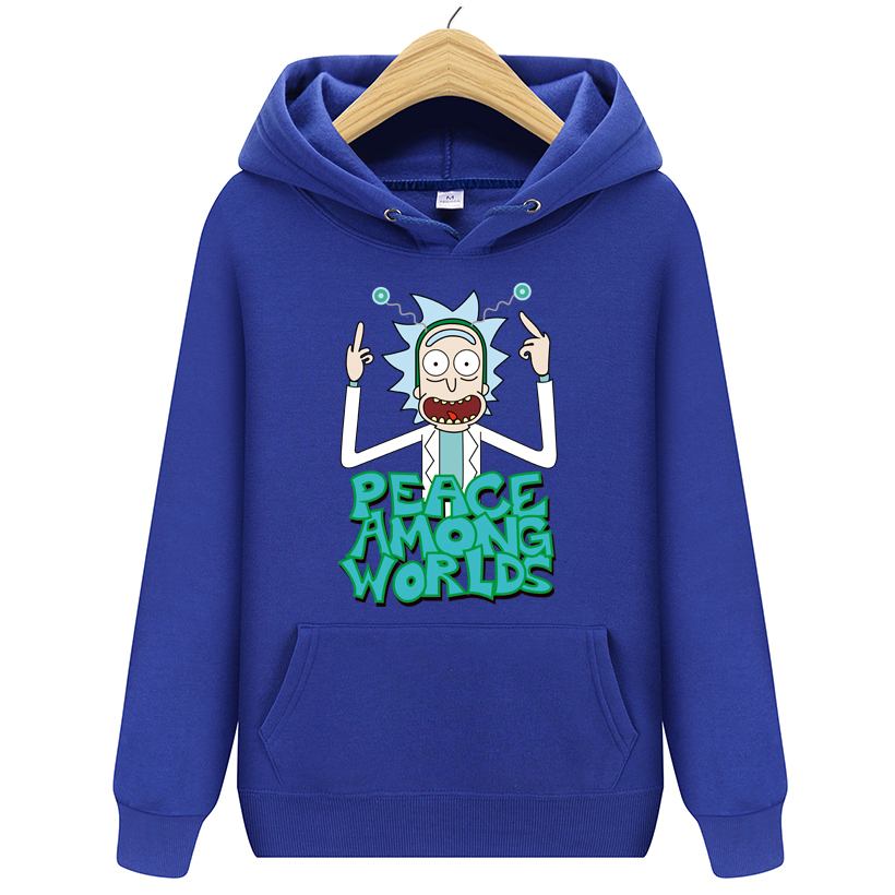 Hoodies Men Brand Autumn Rick morty Long Sleeve Solid Color Hooded Sweatshirt Mens Hoodie Tracksuit Sweat Coat Casual Sportswear(China)