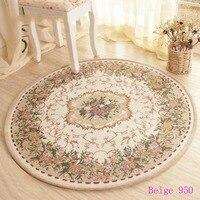 European style garden flowers Jacquard carpet,Round Mats,rugs home room,carpets for living room