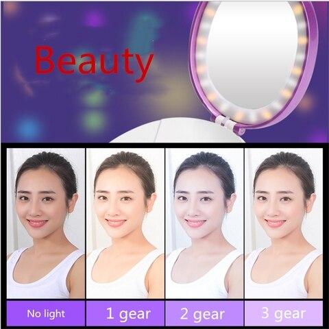 portatil espelho de maquiagem viagem