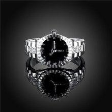 Посеребренные Украшенные весело моды привлекательный смотреть модель Форма кольцо партия ювелирных изделий 2 разных размеров для пара 1 шт.