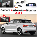 3in1 Special WiFi Camera + Wireless Receiver + Mirror Monitor Easy DIY Parking System For Audi A1 2010~2015