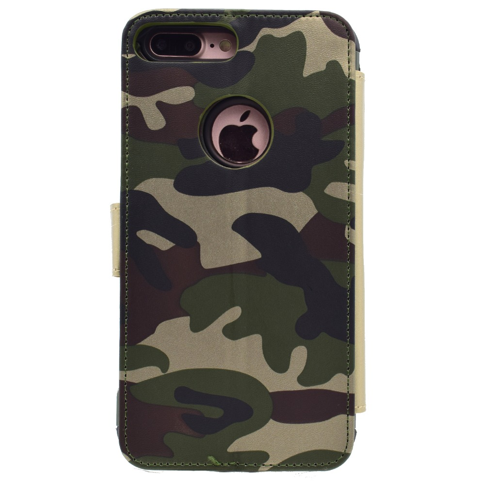 4455dd3e25 2 in 1 Army Green Camouflage Flip Case for iPhone6s 7 Plus Phone Stand Cases  Back Cover for i5 5s SE Holster for iPhone6s Plus-in Flip Cases from  Cellphones ...