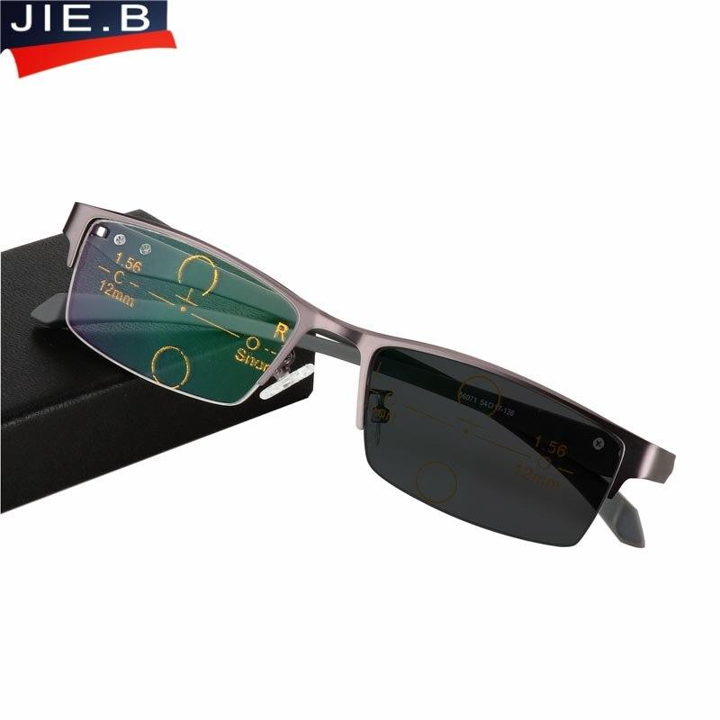 Progressive Multifocal Glasses Photochromic Reading Glasses Flexible Temples Legs Half Frame Male Presbyopia Half Frame Glasses Refreshing And Enriching The Saliva Apparel Accessories Women's Glasses