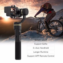 цена на Feiyu G5 V2 Updated 3 Axis Splash Proof Handheld Gimbal for GoPro Hero 6 /5 /4 /3 Yi Cam 4K Mini Action Cameras with Mini Tripod