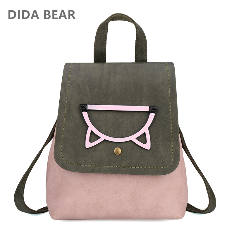 DIDABEAR New Small Fashion Backpack Women Backpacks Female School Bags for Teenagers Girls Travel Bag Candy Color Rucksack new gravity falls backpack casual backpacks teenagers school bag men women s student school bags travel shoulder bag laptop bags