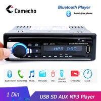 Camecho 12 в Bluetooth автомобильный стерео fm-радио MP3 аудио плеер Зарядное устройство USB SD AUX Авто Электроника сабвуфер в тире 1 DIN Авторадио