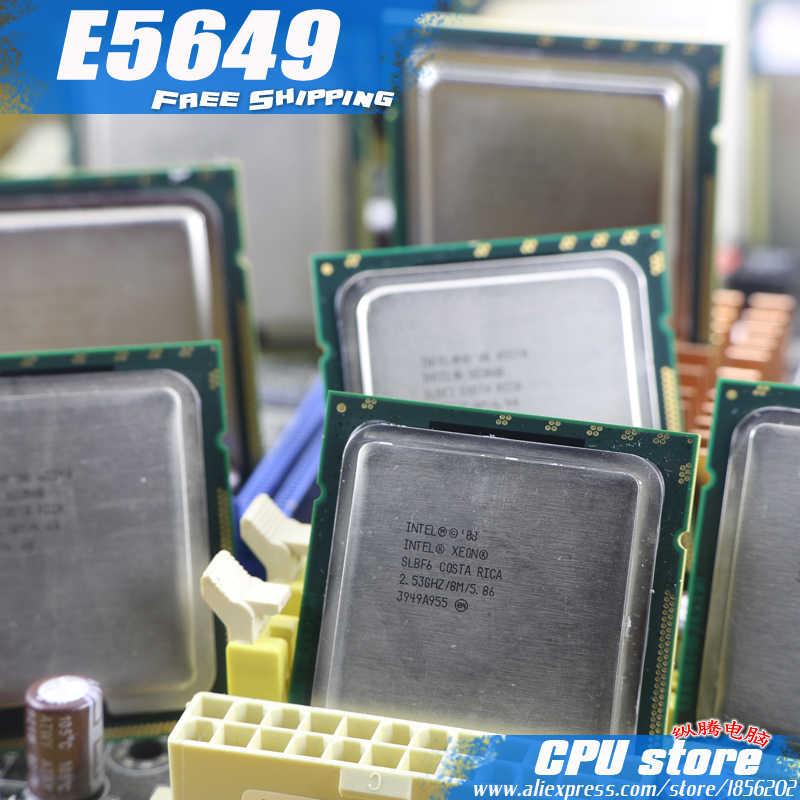 Processador de cpu intel xeon e5649/2.53 ghz/lga1366/12 mb/l3 80 w cache/seis-core/servidor cpu frete grátis, há, vender e5645