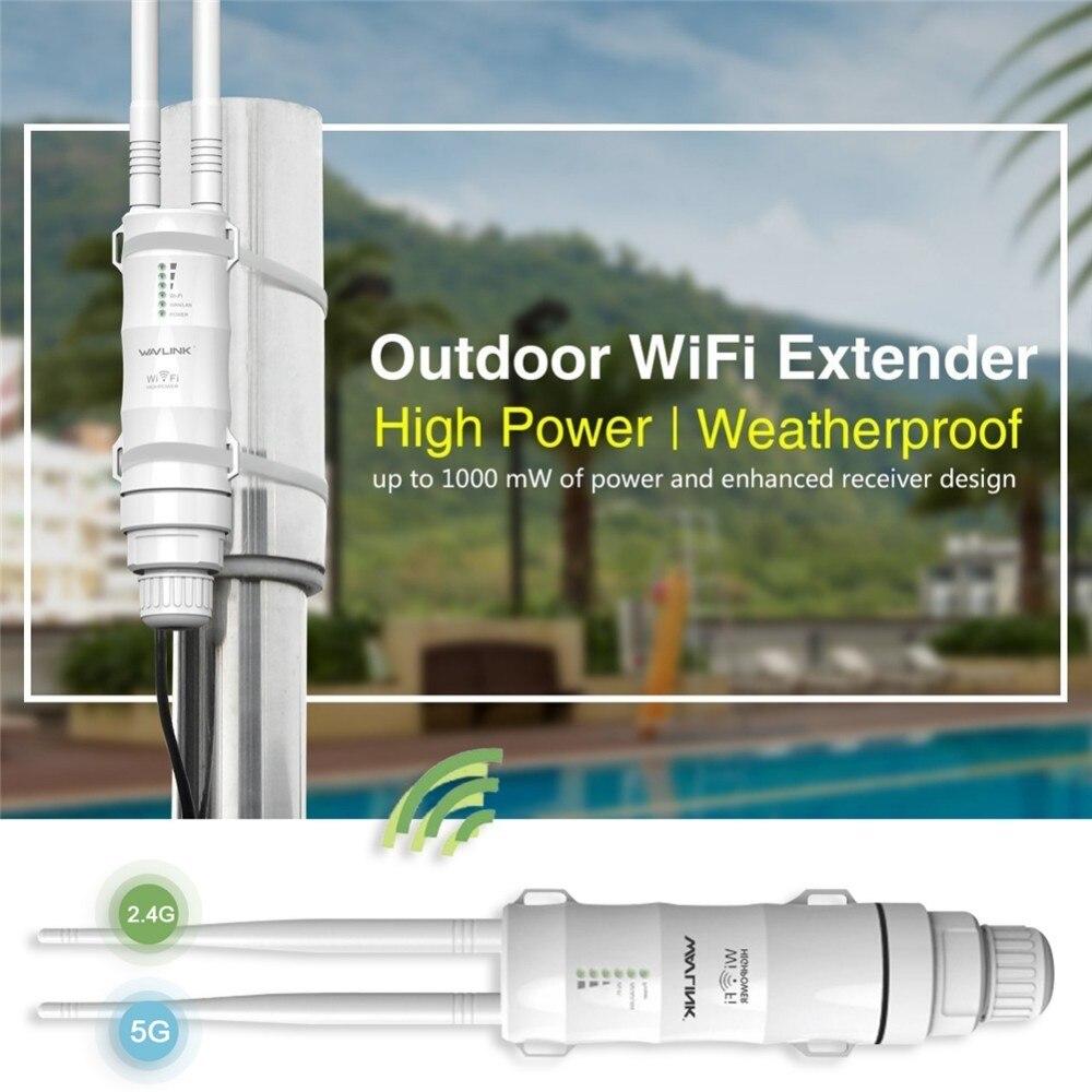 Wavlink extérieur résistant aux intempéries CPE/Wifi Extender/Point d'accès/routeur/WISP 2.4 GHz 150 Mbps 5 GHz 433 Mbps double antenne WIFI routeur - 4