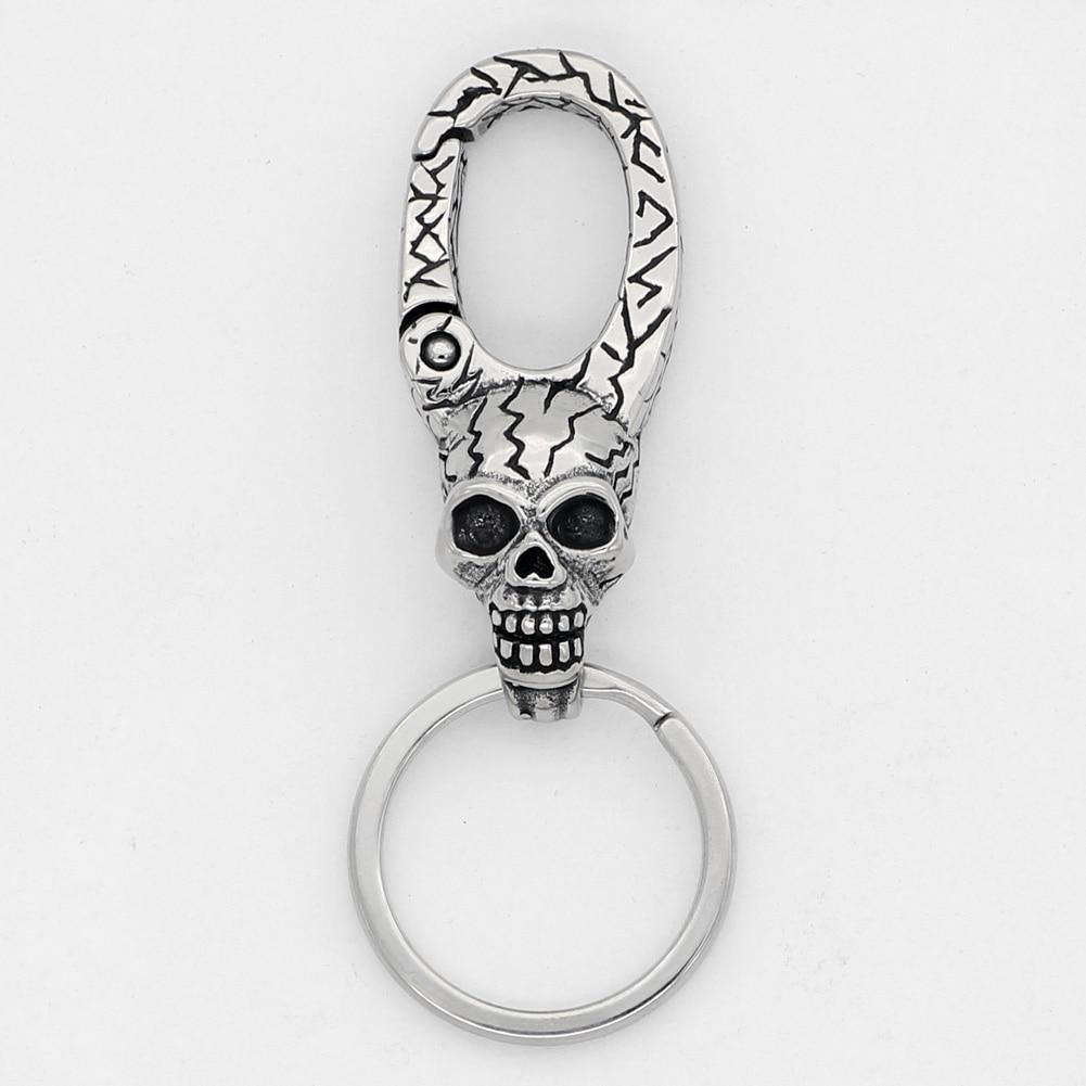 Vikingceltic 316l Stainless Steel Viking Snake Animal Keychain Key Chains