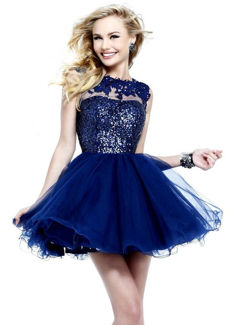 Online Shop 2014 Royal Blue Backless Ball Gown Short Puffy Sexy ...