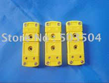 KType MiniThermocouple connector , thermocouple plug,flat pin,yellow color , high quality