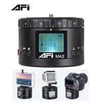 Metal Electric Head AFI MA2 360 degree panoramic Time lapse shooting , Lasting Life, HD LCD Display For Canon Nikon Sony DSLR